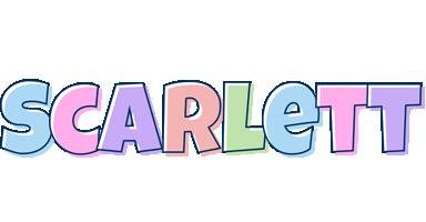 scarlett logo create custom scarlett logo pastel style