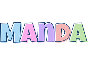manda logo create custom manda logo pastel style