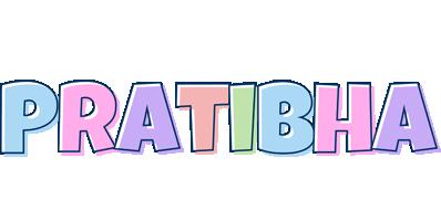 pratibha logo create custom pratibha logo pastel style
