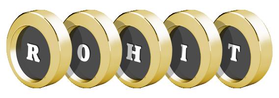 Rohit LOGO * Create Custom Rohit logo * Gold STYLE *