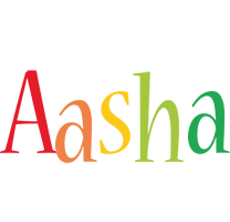 Aasha birthday logo