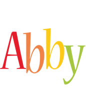 Abby birthday logo