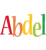 Abdel birthday logo