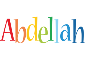 Abdellah birthday logo