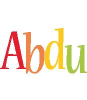 Abdu birthday logo
