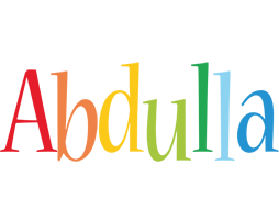 Abdulla birthday logo