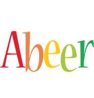 Abeer birthday logo