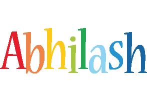 Abhilash birthday logo