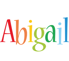 Abigail birthday logo