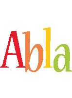 Abla birthday logo