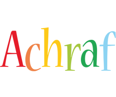 Achraf birthday logo