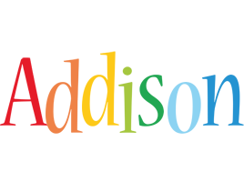 Addison birthday logo