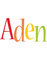 Aden birthday logo