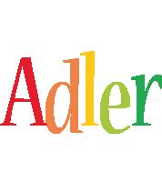 Adler birthday logo