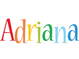 Adriana birthday logo