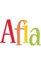 Afia birthday logo