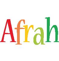 Afrah birthday logo