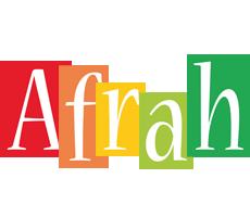 Afrah colors logo