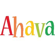 Ahava birthday logo