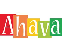 Ahava colors logo