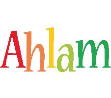 Ahlam birthday logo