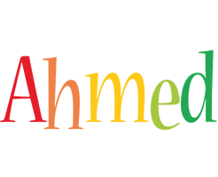 Ahmed birthday logo