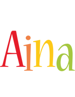 Aina birthday logo