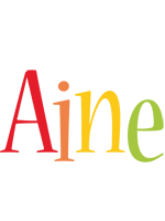 Aine birthday logo