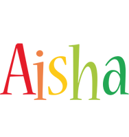 Aisha birthday logo