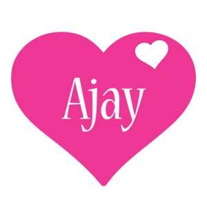 Ajay love-heart logo