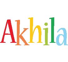 Akhila birthday logo