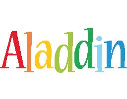 Aladdin birthday logo