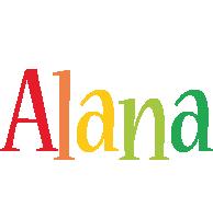 Alana birthday logo