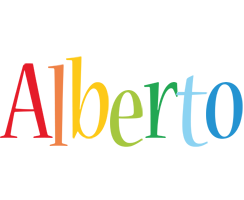 Alberto birthday logo