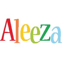 Aleeza birthday logo