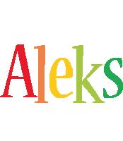 Aleks birthday logo