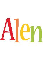 Alen birthday logo