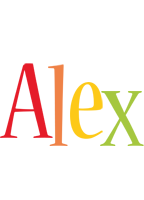 Alex birthday logo