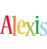 Alexis birthday logo