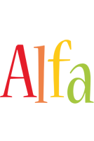 Alfa birthday logo