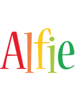 Alfie birthday logo