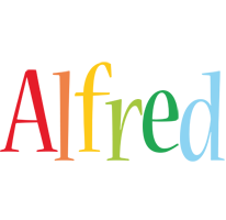 Alfred birthday logo