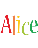 Alice birthday logo