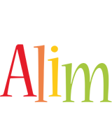 Alim birthday logo