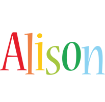 Alison birthday logo