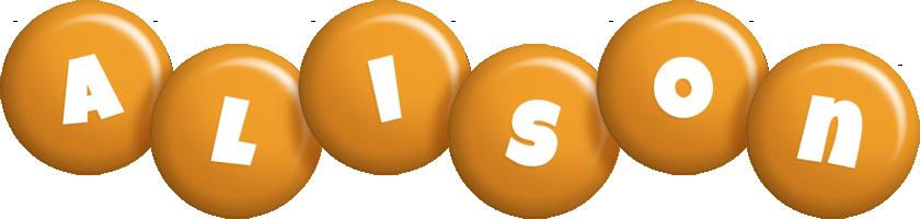 Alison candy-orange logo