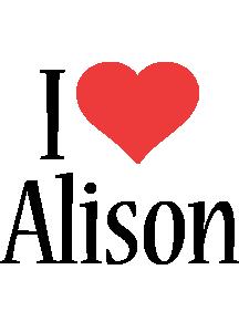 Alison i-love logo
