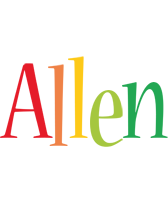 Allen birthday logo