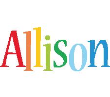 Allison birthday logo