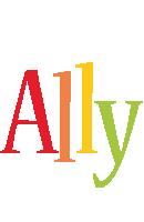 Ally birthday logo